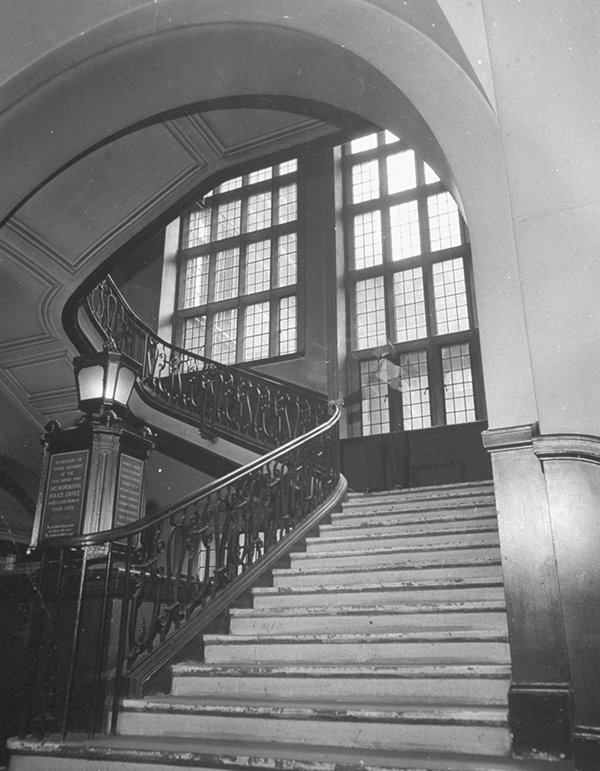 Main staircase in Scotland Yard - Credit: Photo by David E. Scherman/The LIFE Picture Collection via Getty Images